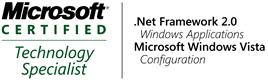Microsoft Technology Specialist für .NET Framework 2.0 und Windows Vista